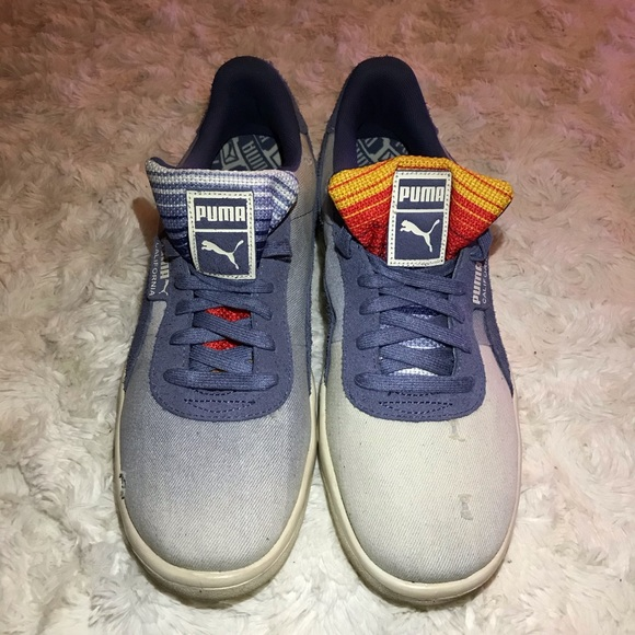 Puma California Denim Dark Vintage Distressed Blue